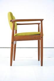 Antique Wooden Armchairs Dining Room Tall Scandinavian Modern Teak Wood Chair Green