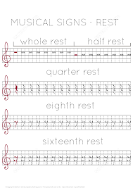 musical signs rest worksheet free printable puzzle games