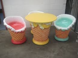 ice cream parlor table and chairs set ice cream furniture set jr max003 the jolly roger life size 3d