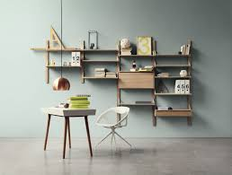Space Saving Home Office Desk Wall Mounted Racks Desks And Shelves That Save Space And Look With
