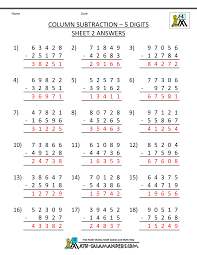 addition and subtraction worksheets 4th grade free worksheets