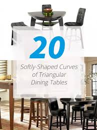 triangle dining room table 20 softly shaped curves of triangular dining tables home design lover