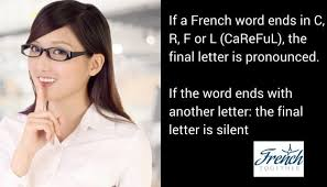 should you pronounce the final letter of french words