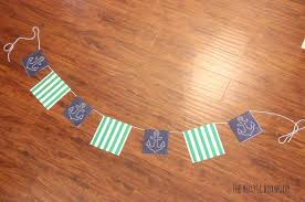 easy and inexpensive tutorial for a nautical paper garland