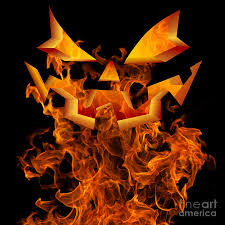 halloween background art halloween autumn fall background greeting design scary flames