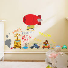 cartoon animals honk beep wall stickers for kids babies room cartoon animals honk beep wall stickers for kids babies room nursery crazy animals wall decal luggage