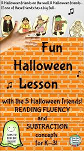 halloween fluency singing u0026 subtraction fun halloween math and