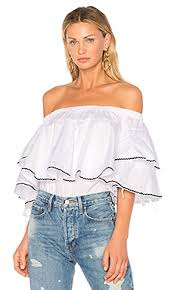 shoulder blouses the shoulder tops blouses in white and black