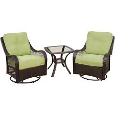 Patio Furniture Ventura Ca by Hanover Orleans 3 Piece Patio Lounge Set With Avocado Green