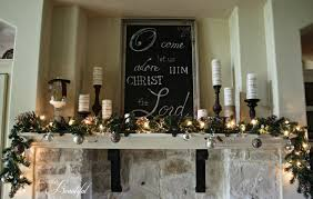 all things beautiful glittery iced christmas mantle