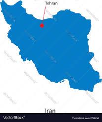 Tehran Map Detailed Map Of Iran And Capital City Tehran Vector Image