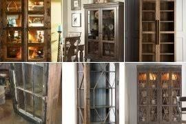 rustic glass kitchen cabinets rustic curio cabinets ideas on foter