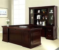 U Shaped Computer Desk U Shaped Home Office Desk Townsend Series Traditional Executive