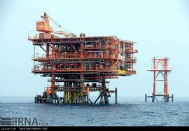 iran u0027s south pars gas field phase 18 platform installation completed