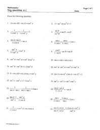 trig identities worksheet 3 4 answers free worksheets library