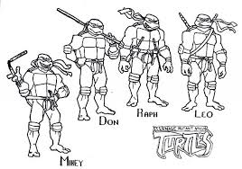 tmnt human coloring pages coloring