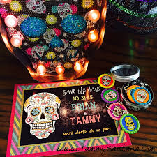 Free Printable Halloween Invitations For Party by Tammysantana Com Halloween Sugar Skull Invite With Free Printable