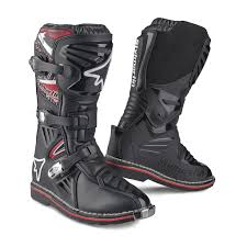 leather motocross boots off road boot with upper in waterproof leather and lining