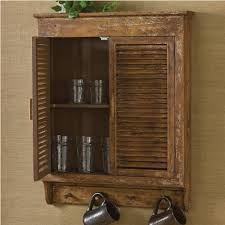 Distressed Wall Cabinet Weathered Wood Shutter Cabinet Piper Classics