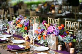 fall inspired table ideas for outdoor wedding receptions inside