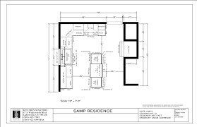 Sample Kitchen Floor Plans by Kitchen Presentation Sample