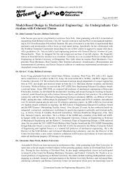 model based design in mechanical engineering an undergraduate cur