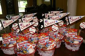 theme basket ideas baseball theme bar and bat mitzvah ideas it up