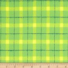 Plaids Yellow Yarn Dyed Flannel Fabric Com