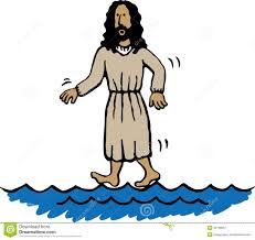 jesus walking on water clipart clipartfest