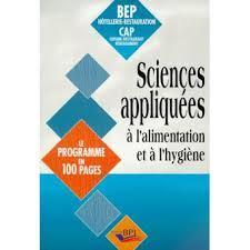 sciences appliqu s cap cuisine sciences appliquées à l alimentation et à l hygiène bep hôtellerie