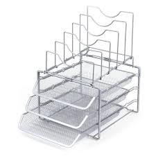 Stackable Desk Organizer Seville Classics Home Office Stackable Desk Organizer Walmart