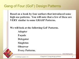 of four design patterns design patterns part 3 sources ppt