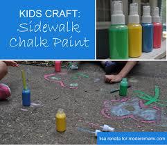 summer fun 3 simple ingredients to make sidewalk chalk paint