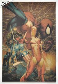 vintage classic comics spiderman ironman the avengers poster bar
