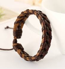men braided leather bracelet images Men 39 s braided leather bracelet gentlemens bracelets jpg