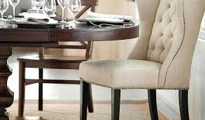 wingback dining room chairs tufted wingback dining chair pottery barn 1 room chairs