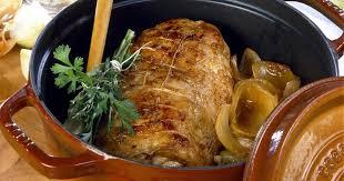 cuisine roti de porc en cocotte recette rôti de porc en cocotte à la moutarde 750g