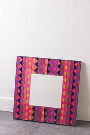 earthbound home decor large tribal mirror mosaic wall plaque earthbound trading company