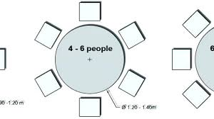 6 person round table 6 person round table size 8 person dining table dimensions person