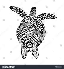 zentangle stylized turtle animals hand drawn stock vector