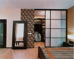 Contemporary Closet Doors For Bedrooms Contemporary Bathroom With Mirrored Closet Doors Mirrored Closet
