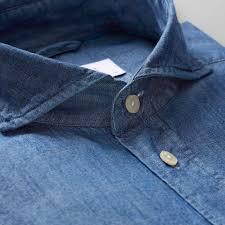 blue denim shirt slim fit eton shirts us