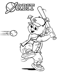 orbit the mascot in mlb coloring page color luna