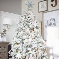 white tree with silver decorations decore