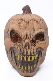evil pumpkin prop light up halloween accessory prank joke novelty