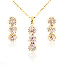 gold set buy beautiful tri floral gold set online in pakistan tesoro pk