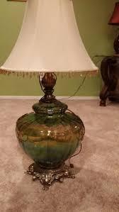 vintage mid retro century extra large green glass optic globe