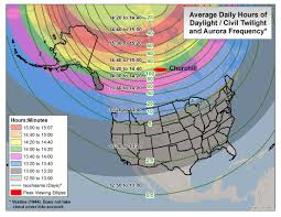 Aurora Map Daylight Twilight And Aurora Borealis Frequency 2200 X 1700 Oc