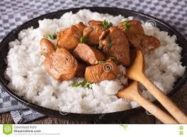cuisine philippine philippine cuisine adobo with rice up horizontal stock