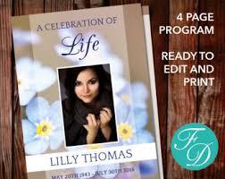 sle of funeral program funeral program template celebration of order of